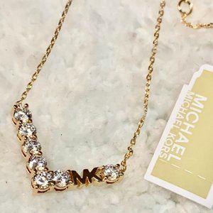 NWT - Michael Kors Rose Gold V Necklace